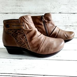Abeo Cadence Light Brown Leather Ankle Booties 12
